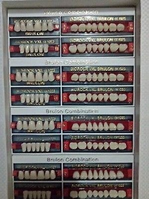 3x BIOROCK Quality Teeth Set for Acrylic & Flexible Dentures by(4 sets in a Box)