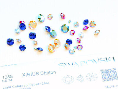 NEW Genuine SWAROVSKI 1028 & 1088 Chatons Foiled Round Stones * More Colors