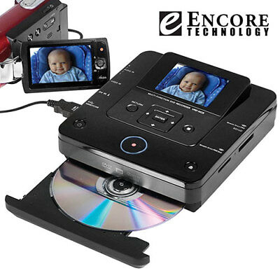 """Encore Technology Multi-functional Digital DVD Recorder with 2.8"""" LCD Screen"""