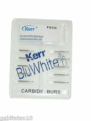 Kerr BluWhite Carbide Burs blister of 10 pcs Dental Product