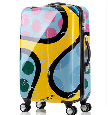 "28"" Cartoon TSA Lock Universal Wheel Children Travel Suitcase Luggage Trolley"