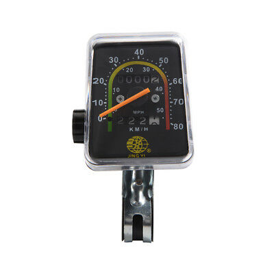 Waterproof Analog Speedometer Odometer Mechanical Clock Cycle Bike Bicycle CS342