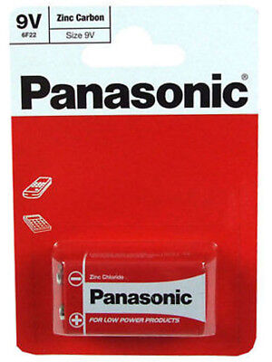 Panasonic 9V Zinc Carbon Chloride Battery 9 V Block PP3 Cell OFFICIAL GENUINE