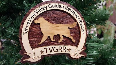 Fundraiser ornament Golden Retriever Rescue dog holiday Tennessee Valley