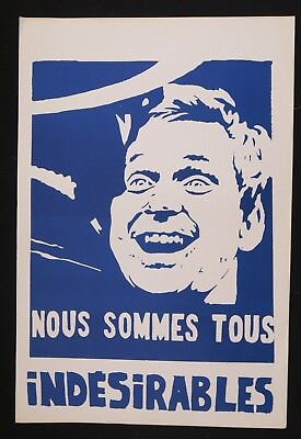 Affiche mai 68 NOUS SOMMES TOUS INDESIRABLES Cohn Bendit french poster 1968