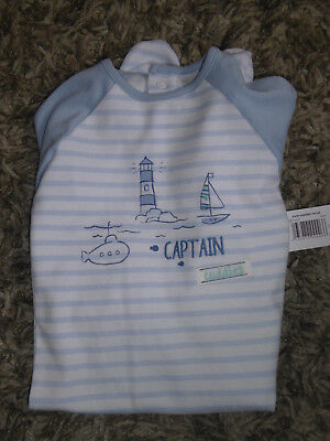 Cute Captain Cuddles Baby Boys Sleepsuit Playsuit 9-12 Months NEW WITH TAG