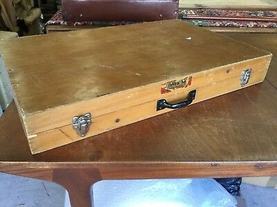 Compac-Nik Old Vintage Wooden Folding Table Camping Dining Artist Car Boot