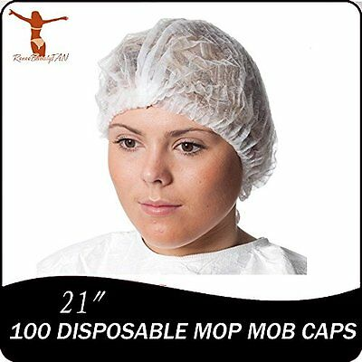 100 Personal Protective Equipment Disposable Mop Mob Caps Clipped Hair Head Net