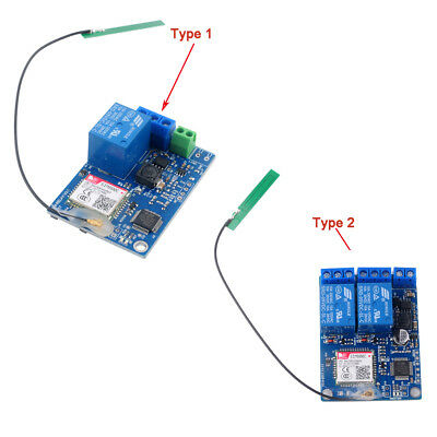 1 / 2 Channel Relay Module SMS GSM Remote Control Switch SIM800C STM32F103CBT6