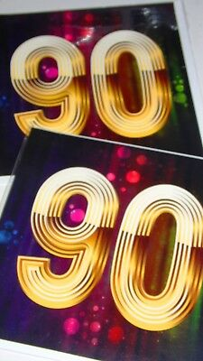 """AGE 90 CARDS x12, just 27p, WRAPPED, MULTI COLOUR, GREAT BOARD,  6"""" SQUARE (D336"""