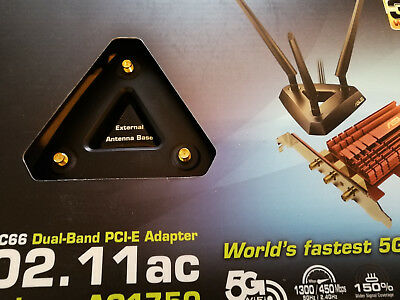 ASUS PCE-AC66 802.11ac Dual Band Wireless-AC1750 PCE Adapter