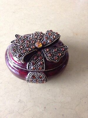 Vintage Art Nouveau Small Jewelry Casket Very Nice