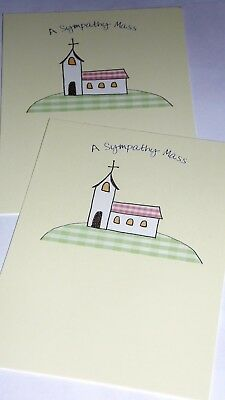 SYMPATHY MASS CARDS X12, just 27p, FOILED, HIGH QUALITY BOARD (B383