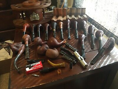 Lot Of Antique Pipes/ Holders Vintage Smoking Tobacco Collectible Rare Unique