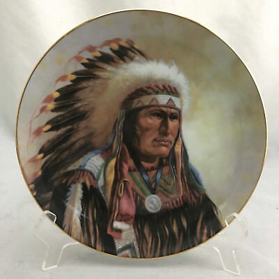"""Perillo for Artaffects """"Strength of Sioux"""" #3553F Lit Ed 1991 Plate 8.5"""""""
