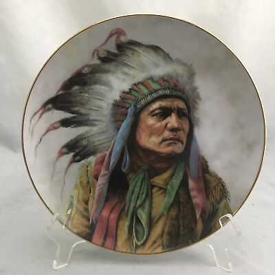 """Perillo for Artaffects """"Pride of the Cheyenne"""" #2561C Lit Ed 1991 Plate 8.5"""""""