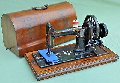 Vintage Hand Crank Sewing Machine with Mother of Pearl Inlay Simplex ?