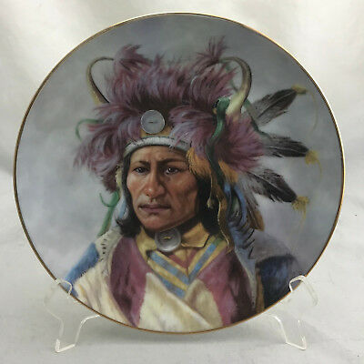 """Perillo for Artaffects """"Dignity of the Nez Perce"""" #0099C Lit Ed 1991 Plate 8.5"""""""