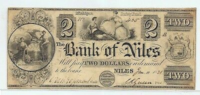 $2.00 Banknote from The Bank of Niles, 1938
