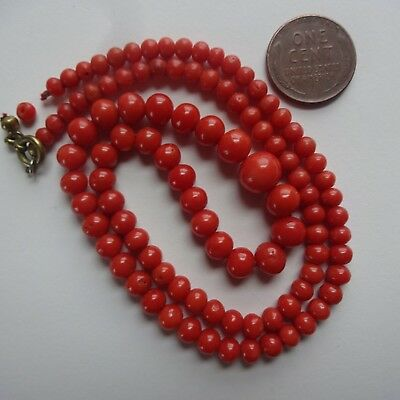 Natural coral bead necklace Fine quality