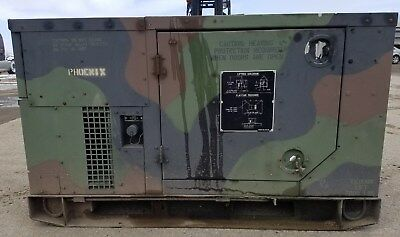 MEP-803A 10kw Diesel Generator Military 120/240 60HZ 1-3 Phase - low hours