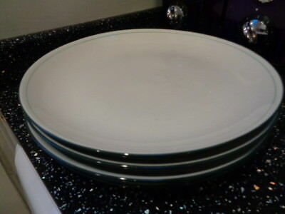 Denby Intro Green Dinner Plates X 4