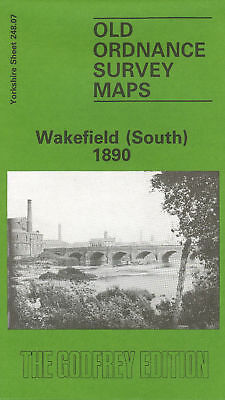 Old Ordnance Survey Map Of Wakefield (South) 1890