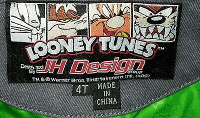 JH Design RARE  Looney Tunes Cotton Jacket Toddler 4T pre-owned very well kept