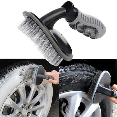 Universal Car Wash Brush Dust Remove Washing Tool Handle Tire Wheel Cleaning