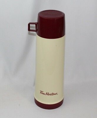 Vintage Retro TIM HORTONS Tall Thermos - Made in Canada - Hot Cold Coffee