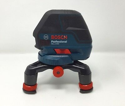 Bosch GLL3-50 Professional 3 Line Laser Level w/Base + Accessories *NICE*