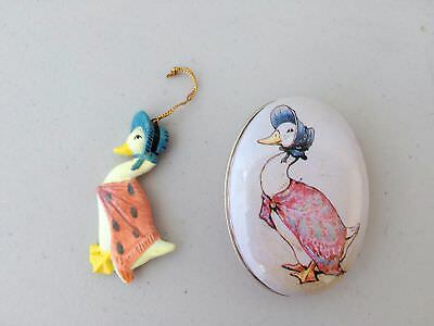 Schmid F. Warne Beatrix Potter character Mother Goose Ornament in Tin 1988