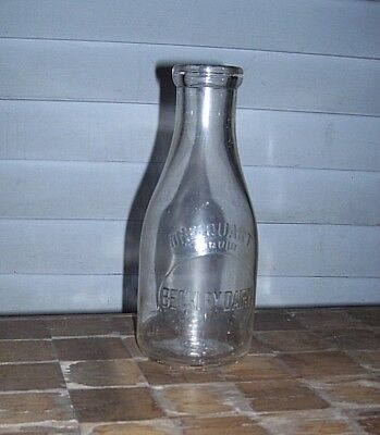 BECKLEY  DAIRY from HAGERSTOWN MD Quart milk bottle Scarce Maryland