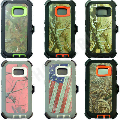 For Samsung Galaxy S7 Defender Camo Case (Belt Clip Fits Otterbox)