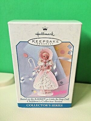 Hallmark 1998 Barbie As Little Bo Peep Ornament Spring Easter