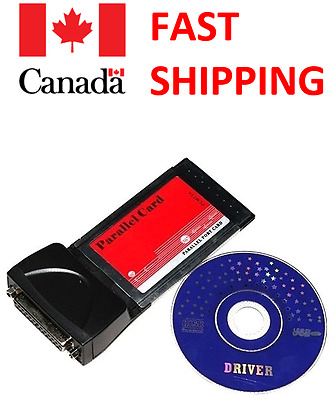PCMCIA Cardbus LPT Adapter Computer Laptop Notebook Parallel CARD Printer DB25