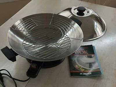 Electric Stainless Steel Wok MEYER Excellent Condition, Works Great!