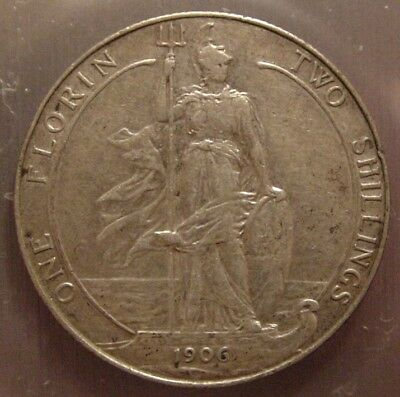 ~Great Britain~ 1906 Florin~ Edward VII~ Two Shillings~ Nice!