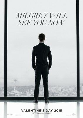 FIFTY SHADES OF GREY 50 MOVIE POSTER 2 Sided ORIGINAL Advance 27x40