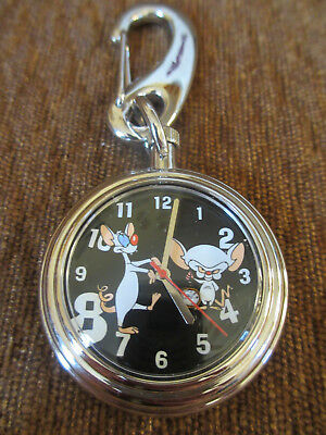 Warner Bros Animaniacs PINKY AND THE BRAIN Pocket Watch - 1997 - Made by Fossil