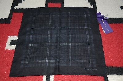 Ralph Lauren Purple Label Made in Italy Silk & Cashmere Pocket Square