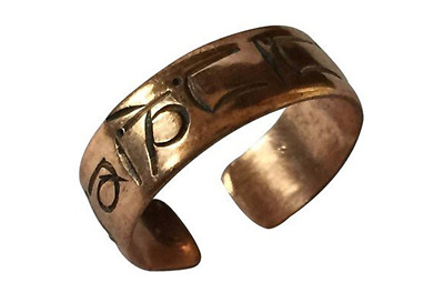 Handmade Copper Buddha of Compassion Ring from Nepal