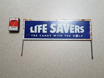 Original Vintage Life Savers / The Candy With The Hole / Shop Display Rack Sign