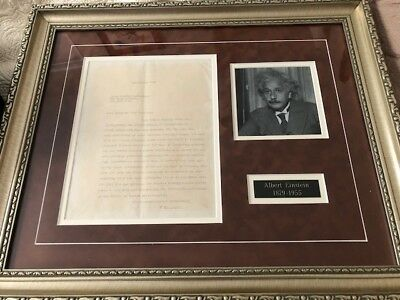 ALBERT EINSTEIN - TYPED LETTER SIGNED 10/16/1938 Princeton NJ Letterhead