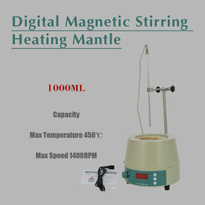 1000ml 110V Electric Digital LCD 98-III-B-1000 Magnetic Stirring Heating Mantle