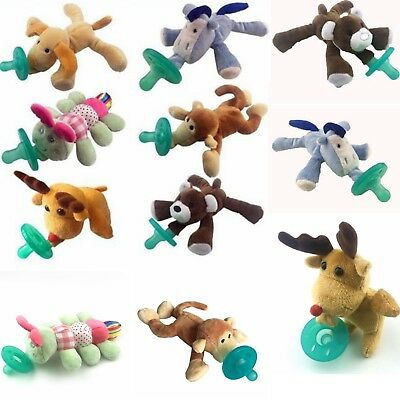 2018 1PC Animal Baby Nipple Infant Silicone Pacifiers with Cuddly Plush Toys