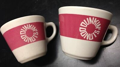 Dunkin' Donuts Homer Laughlin Vintage Coffee Cup Pair, Used/Excellent