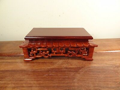 "Rectangle Display Stand - Red Suanzhi Wood - 3 1/8""x1 1/2"""