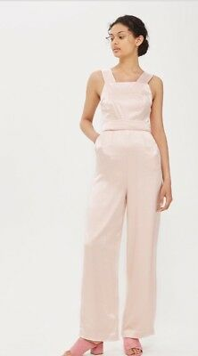12f2fcdee74 BNWT TOPSHOP TALL White Stripe Slouchy Wrap Front Culotte Jumpsuit ...