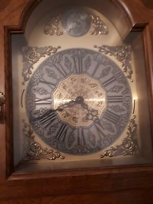 "Oak "" London "" Brass Face Roman Numeral Grandfather Clock"